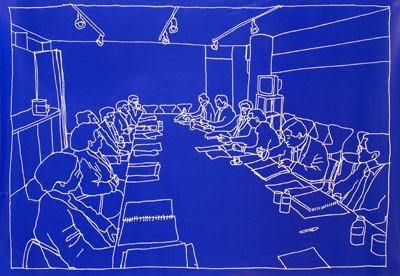 ilustração encontro internacional de curadoria