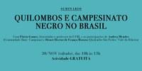 Seminário: Quilombo e Campesinato Negro no Brasil com Professor Flávio Gomes - capa