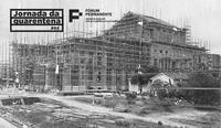 Teatro Municipal de São Paulo - obras de construção (1905). Coleção Família Passos/Museu da República/Acervo Biblioteca Brasiliana.