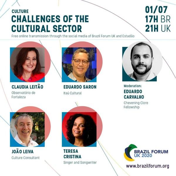 Desafios da Cultura - Brazil Forum UK 2020 - 1/07/2020