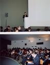 Público e abertura da mesa-redonda na OCA
