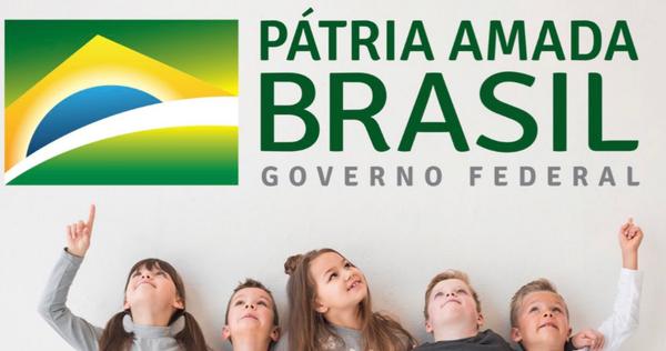 Cartaz de lançamento de novo programa do governo Bolsonaro só tem crianças brancas