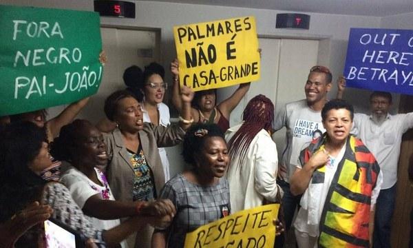 Lideranças do movimento negro protestam na Fundação Palmares contra novo presidente da casa