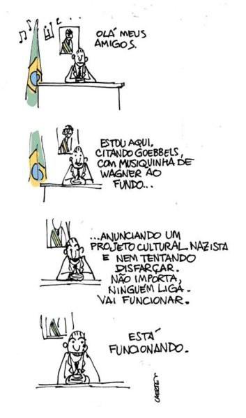 O discurso de Roberto Alvim segundo Laerte Coutinho