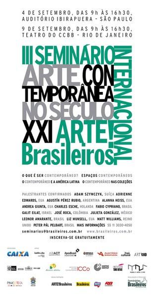 """III Seminário Internacional ARTE!Brasileiros """"A Arte Contemporânea no séc. XXI"""""""