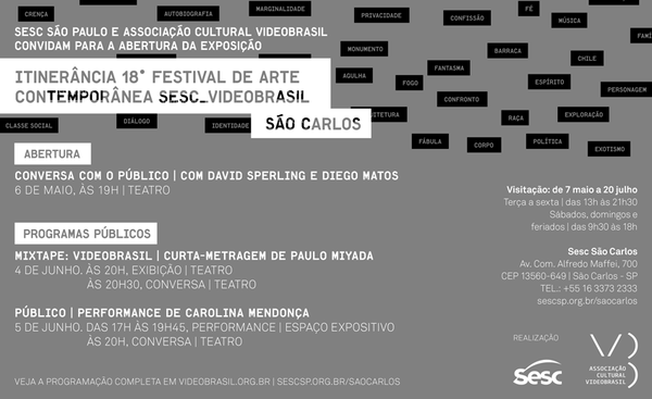 Itinerância 18º Festival Videobrasil — São Carlos