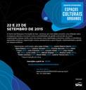 Encontro Internacional Espacos Culturais Urbanos