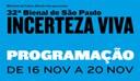 32ª Bienal de São Paulo: Programação (16/11 a 20/11)