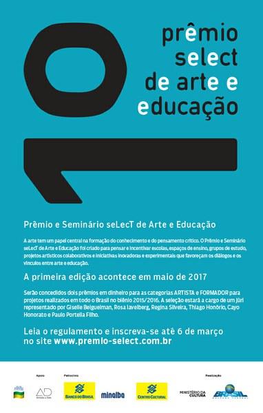 Prêmio Arte e Educação: RETA FINAL Inscreva-se até 6 de março.