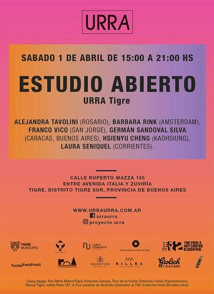 Estudio Abierto - URRA Tigre - Sabado 1 de abril de 15:00 a 21:00 hs