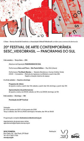 3-8 outubro | abertura  >> 20º Festival de Arte Contemporânea Sesc_Videobrasil