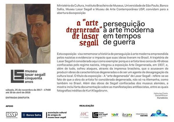 """A """"Arte degenerada"""" de Lasar Segall - Perseguição à arte moderna em tempos de guerra"""