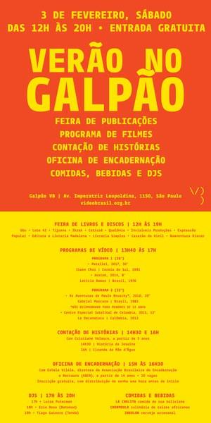 3/FEV (SÁB) >> Verão no Galpão!