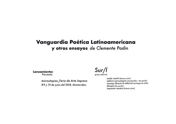 Lançamento: Vanguardia Poética Latinoamericana