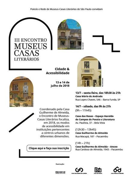 CONVITE III Encontro Museus-Casas Literários