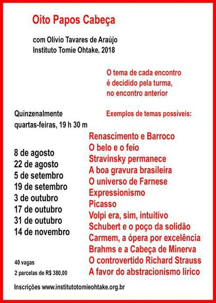 Oito Encontros  com Olívio Tavares de Araújo