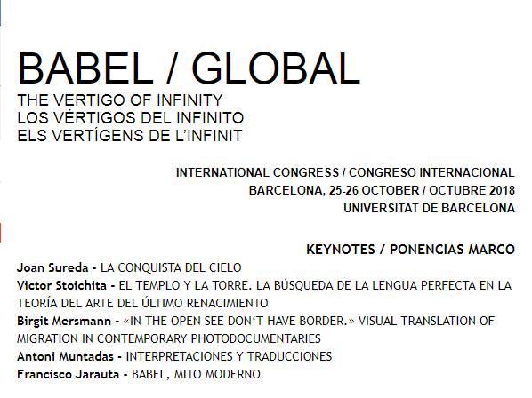 International congress BABEL / GLOBAL - Barcelona, 25-26 October, 2018