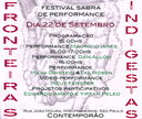 Festival Sabra de Performance - 22/09
