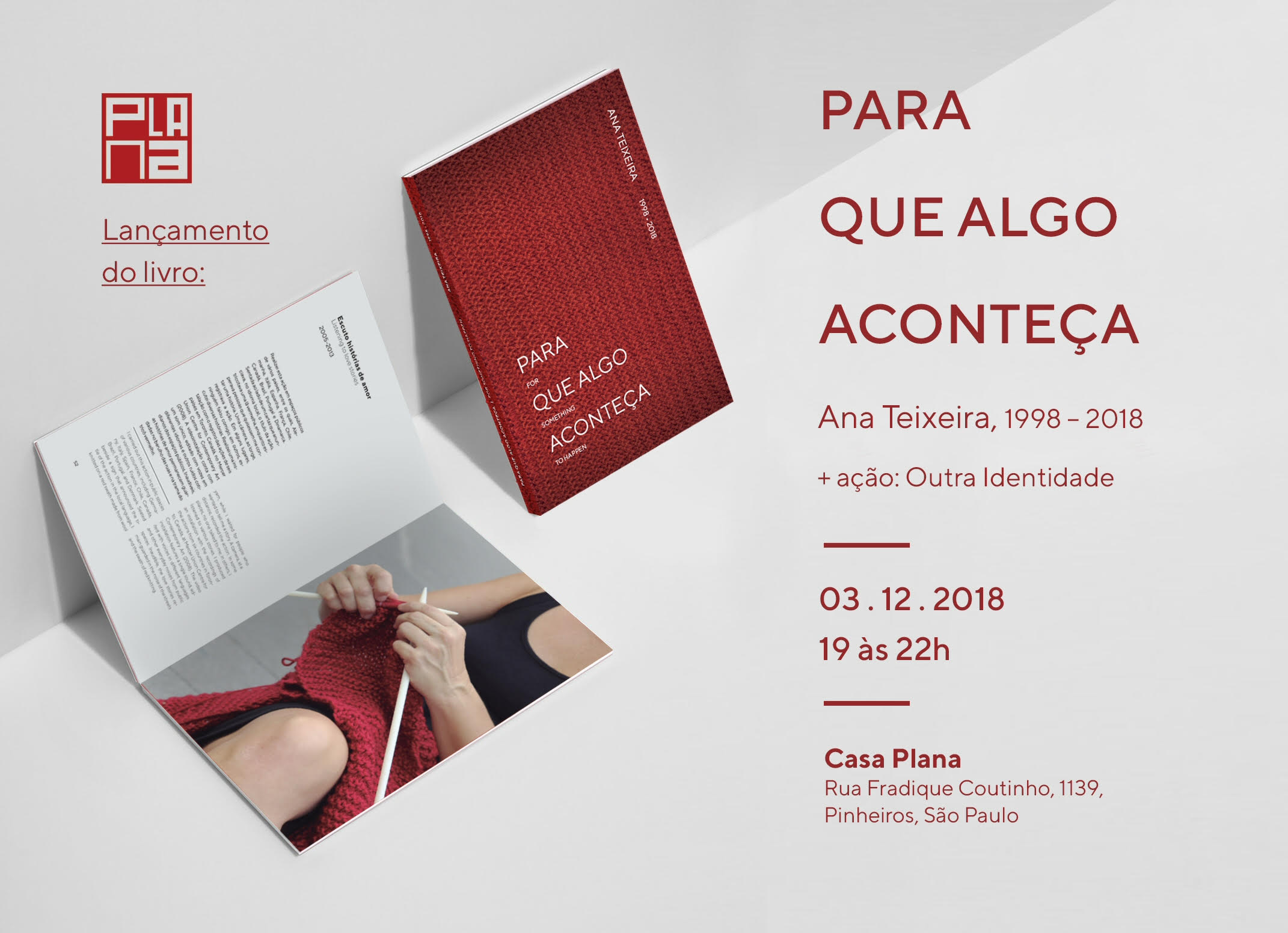 LANÇAMENTO: PARA QUE ALGO ACONTEÇA - Ana Teixeira - 3/12/2018