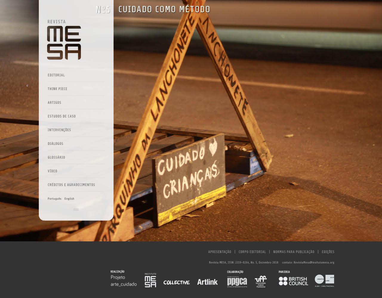 No ar! Revista MESA - Cuidado como método