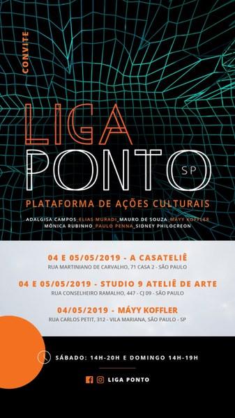 Circuito de ateliês da plataforma Liga Ponto SP! - 4 e 5 de Maio