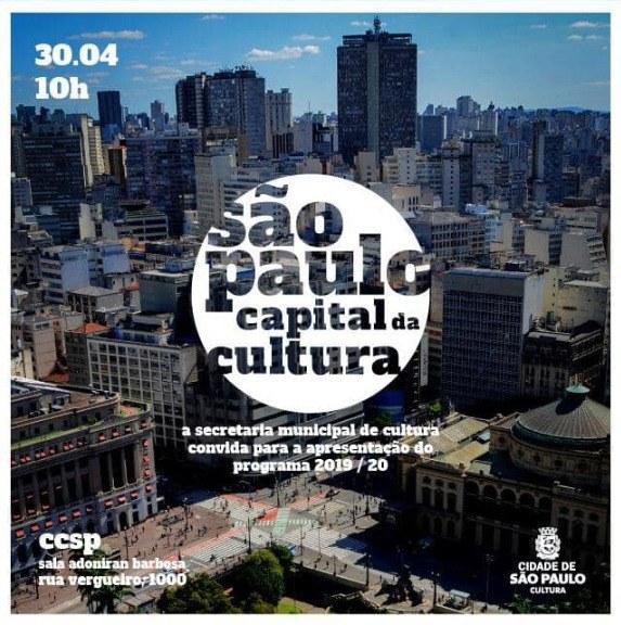 Secretaria Municipal de Cultura de São Paulo apresenta o programa para o biênio 2019/2020