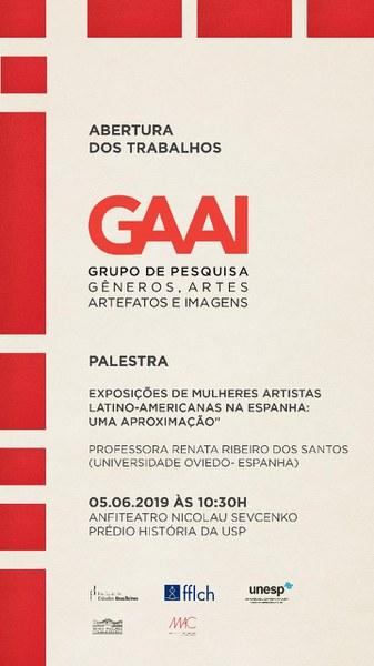Abertura do GRUPO DE ESTUDOS - Gêneros, Artes, Artefatos e Imagens  (GAAI) - 05/06