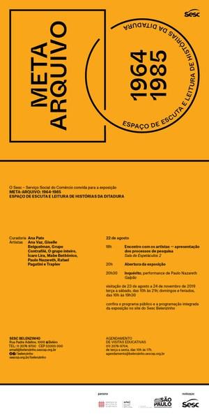 Convite Meta-Arquivo: 1964-1985 - SESC Belenzinho