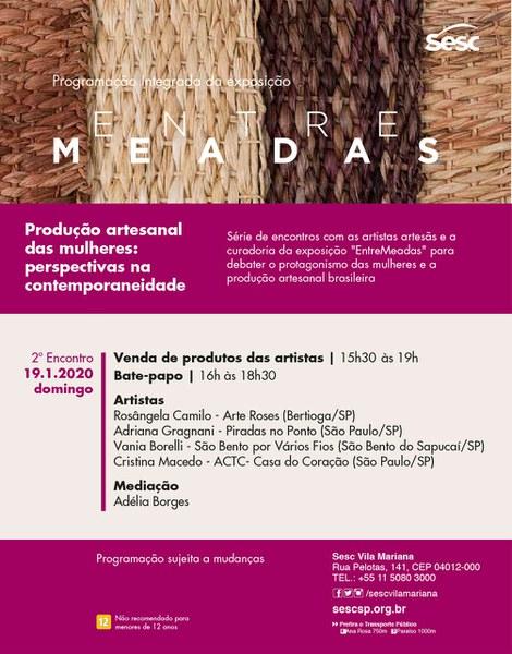 Produção artesanal das mulheres: perspectivas na contemporaneidade - BATE-PAPO COM MEDIAÇÃO DE ADÉLIA BORGES - 19/01