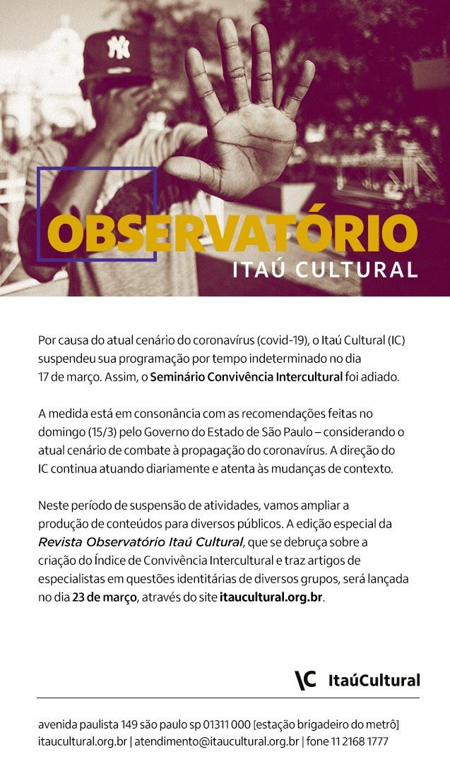 """Revista Observatório lança edição especial """"Convivência Intercultural – Perspectiva Latino-Americana"""""""