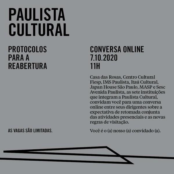 Conversa Paulista Cultural: protocolos para reabertura
