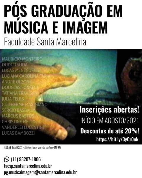 Pós Graduação em Música e Imagem - Faculdade Santa Marcelina
