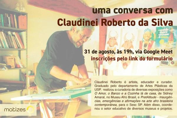 """Inscrição para """"uma conversa com Claudinei Roberto da  Silva"""""""