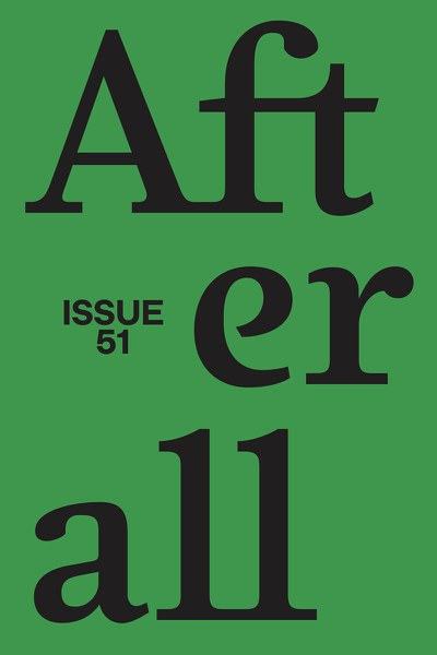 Afterall issue 51: Mediations out now