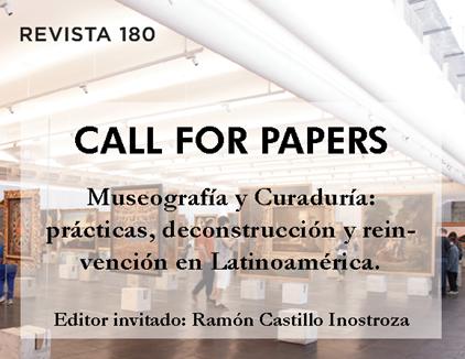 Convocatoria a Call for paper Revista 180 FAAD-UDP