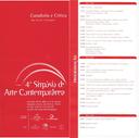 4º Simpósio de Arte Contemporânea: curadoria e crítica