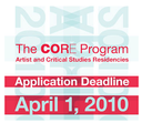 The Core Program: Artist and Critical Studies Residencies