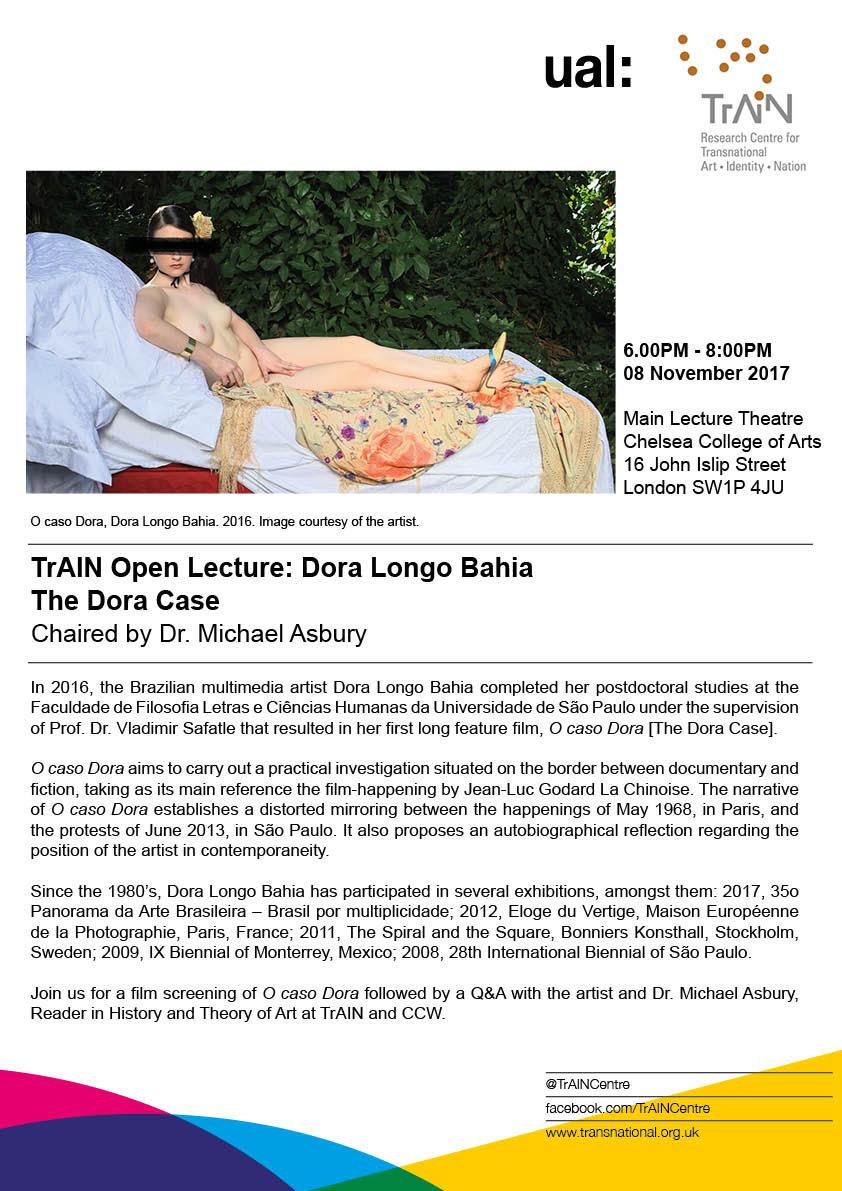 TrAIN Open Lecture: Dora Longo Bahia